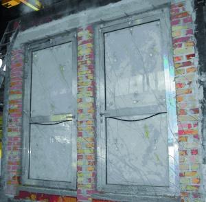 Fot. 2. Widok drzwi aluminiowych w 15 minucie badania